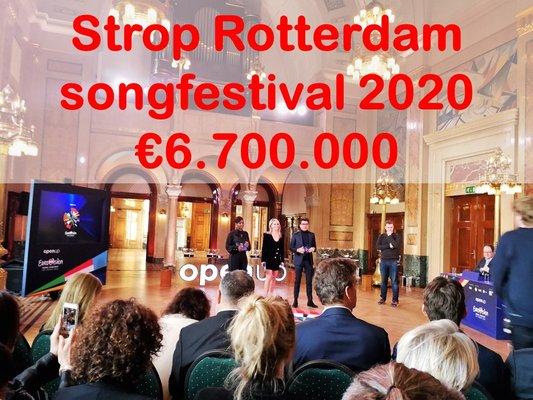 Geen Rotterdams belastinggeld naar Songfestival 2021 ...